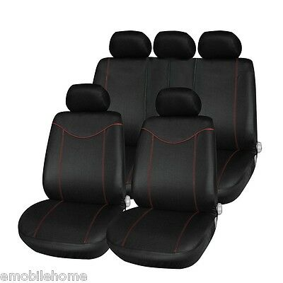 T21638 11pcs Car Low-back Seat Cover Set Anti-Dust Auto Cushion Protector Black