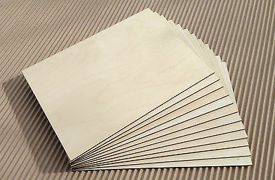 A4 25 sheets  Birch plywood for laser cutting, pyrography, craft,