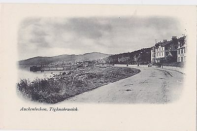 Auchenlochan Tighnabruaich Argyll Harbour Road Early 1900s Unposted Postcard