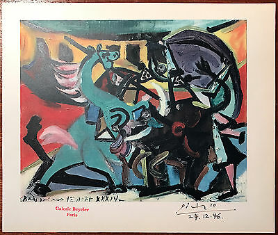 Pablo Picasso Rare Colour Lithograph Hand Signed Galerie Beyeler