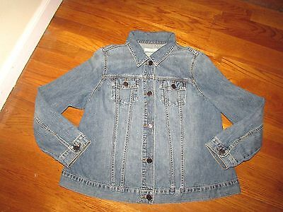 OLD NAVY Styled *Maternity* Distressed Trucker Style Blue Jean Jacket Size XL