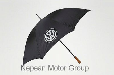 New Genuine Volkswagen Umbrella, Wooden Handle Part 240072