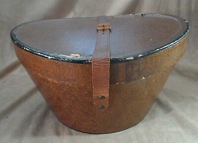 Vintage Antique Knox Premier Top Hat Box w/ Leather Strap