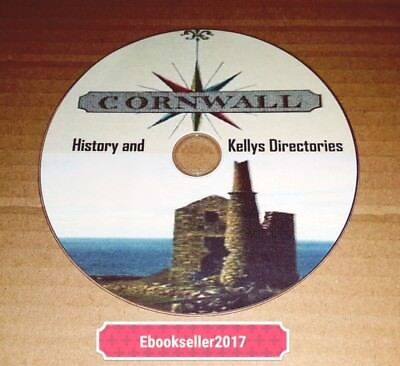 Cornwall History 60 very rare old books on 1 disc in PDF Format for PC