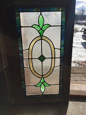 Sg 1270 Antique Transom Stainglass Window 20.5 X 36