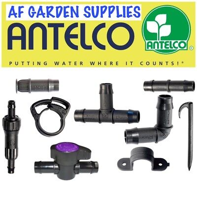 Antelco 13mm Tee,Elbow, End Plug Pipe Fittings/Connectors Irrigation Pipe Garden