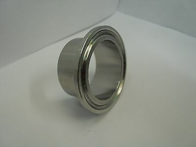 "Tri Clamp Ferrule  2.5""  OD Sanitary Weld on Stainless Steel T316L"