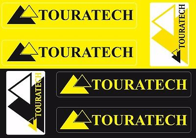 Touratech Case Box Fork Decals Stickers Graphic Set Vinyl Adhesive 6 Pcs