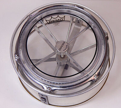 "Remo USA 12"" Rototom  Vintage 70s/80s chrome inkl. Full Shell Reflector"