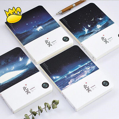 """Night Ocean Ver.2"" 1pc Notebook Sketchbook Blank Papers Drawing Study Notepad"