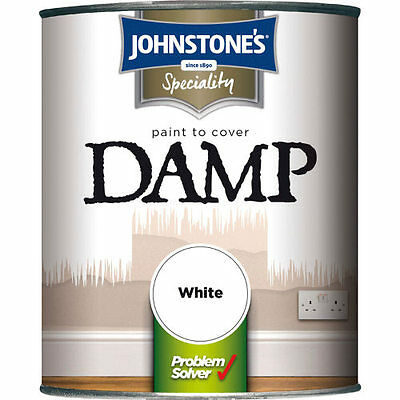 Johnstones 750ml Damp Proof Paint White Free Delivery Cheap Sale Offer Price