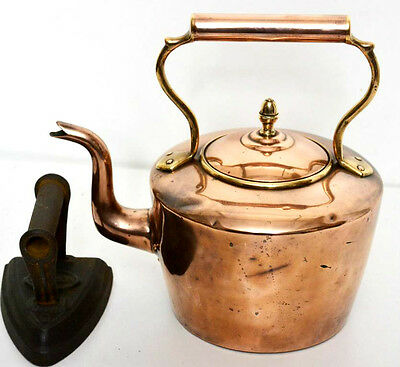 Victorian Large Copper Kettle  - FREE Shipping [PL3193]