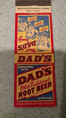 dad's old fashioned root beer soda pop matchbook