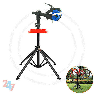Home Mechanic Folding Bicycle Bike Maintenance Repair Work Blue Stand Rack S247