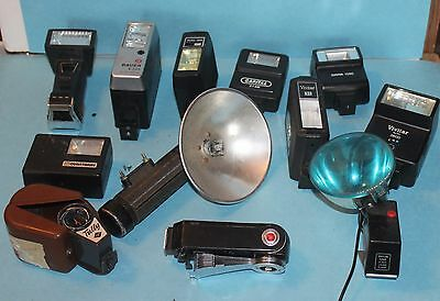 Mixed Lot of  10 + Flash Units