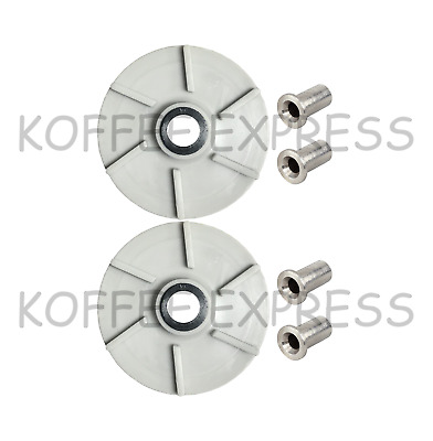 Impeller (2) Crathco 3587 & (4)  Bearing Sleeve  Crathco 3220 bubbler part - 046