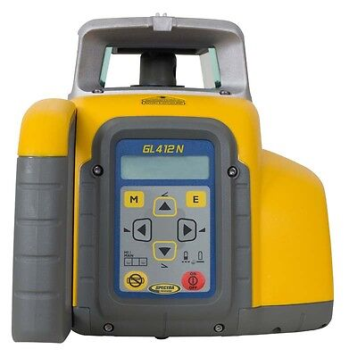 Spectra GL412N-14 Single Grade Laser Level with CR600 Mag Mount Receiver