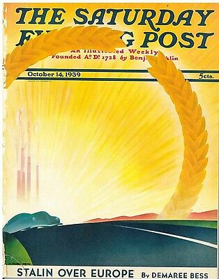 The Saturday Evening Post October 14 1939 H Wilson Smith Vintage Birthday