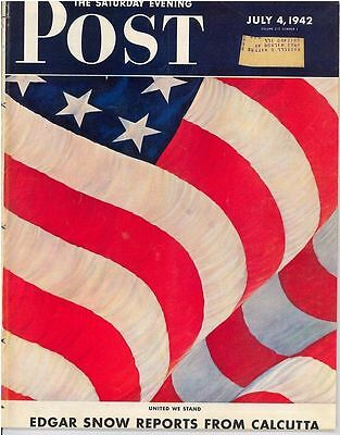 The Saturday Evening Post Easter July 4 1942 John Clymer Vintage Gift