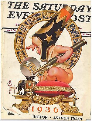 The Saturday Evening Post January 4 1936 JC Leyendecker Vintage Birthday Gift