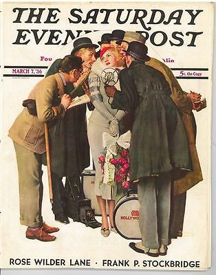 The Saturday Evening Post March 7 1936 Norman Rockwell Vintage Birthday Gift