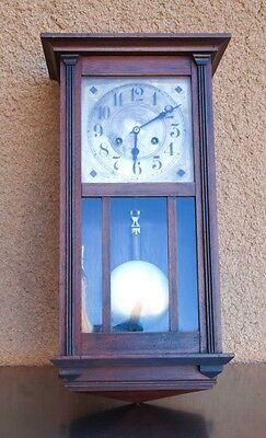 Antique Mission Arts & Crafts Wall Table Clock