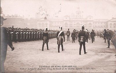 Carte-Photo - Funeral of King Edward VII - York & Lancaster Regiment liming ...