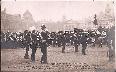 Carte-Photo - Funeral of King Edward VII - His Majesty The King George H.R.H -