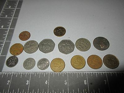 "Big Lot Of 15 ""barbados"" Coins And Currency - Not Graded"