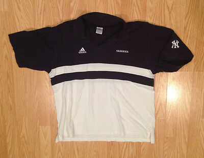 ADIDAS YANKEES POLO L LRG LARGE men's shirt T Tee Short Sleeve