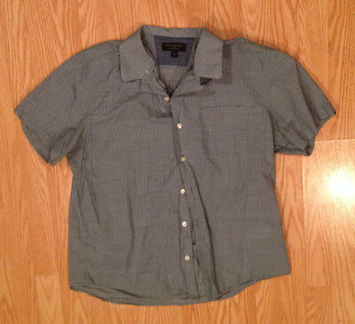 BANANA REPUBLIC Soft Wash Slim Fit Button Down Short Sleeve Shirt L LARGE