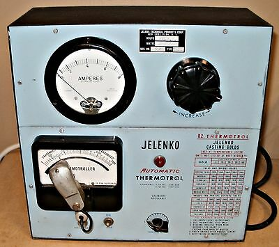 Jelenko Thermotrol D-2 controller jewler / dental. Read discription.
