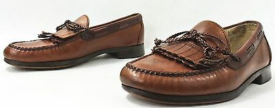 ALLEN EDMONDS Mens Shoes size 9 E Brown Leather Loafer Kiltie Made in USA