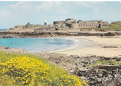 Channel Islands Postcard - Corblets and Quesnard Lighthouse - Alderney   SM220