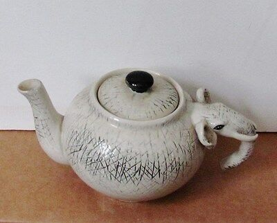 Vintage Exotic Elephant Shaped Ceramic Stoneware 3 cup capacity Teapot
