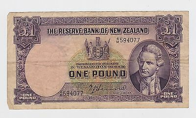 New Zealand -  One (1) Pound, 1967