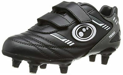 Optimum Tribal VELCRO® Rugby Boot Black/Grey Junior size 10,11,1,2,4 or 5