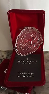 Waterford Crystal 1994 -11 Pipers Piping :12 Days of Christmas Ornament Ireland