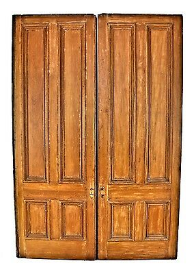 1870's Interior Cottage Pocket Doors With Intact Bottom-Mounted Rollers