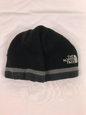 The North Face Boys Black/Gray Knit Beanie Hat One Size