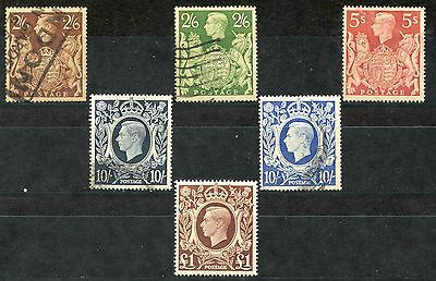 George VI 1939 SG476-478c High Value Definitive Set-FINE USED