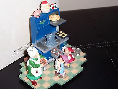 "Hallmark ""christmas Eve Bake-Off"" Keepsake Ornament With Display Piece, Signed"