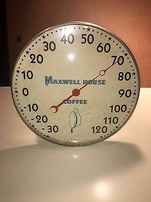 Vintage Red Dial T.w. O'connell & Co Maxwell House Coffee Temp Thermometer