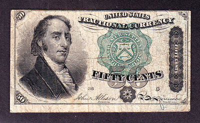 """US 50c """"Dexter"""" Fractional Currency Note 4th Issue  FR 1379 Pos 36 G VF (-003)"""