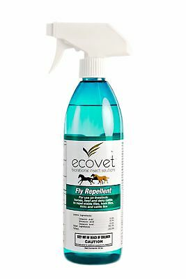 Natural Ecovet Insect Solutions Livestock Fly Repellent Spray 16oz Made in USA
