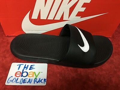 301e8692c99e5 NIKE KAWA SLIDE Sandals Youth (GS PS) 819352 001 Black White Free ...
