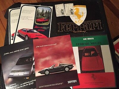 Ferrari Lot Of Brochures, Adds And More. 308gts, Dino, Mondial,