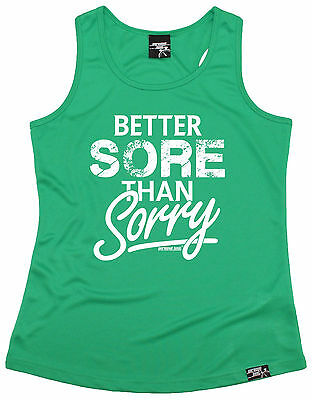 Better Sore Than Sorry WOMENS DRY FIT VEST singlet training mothers day running