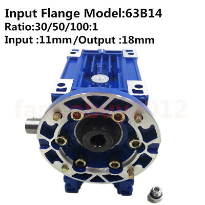 NMRV040 Worm Gear Reducer 30 50100:1 63B14 1400r/min Speed Reducer for Stepper