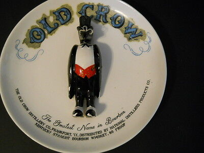 Vintage Old Crow Advertising Plate~3d~Display~